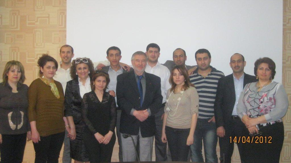 Training on Development of Modular Training Programs carried out by an international expert during 10-14 April 2012